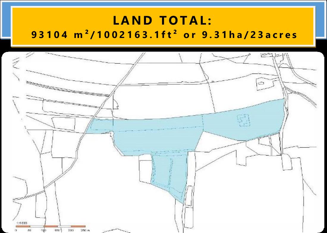 LAND TOTAL: 93104m²/1002163ft²