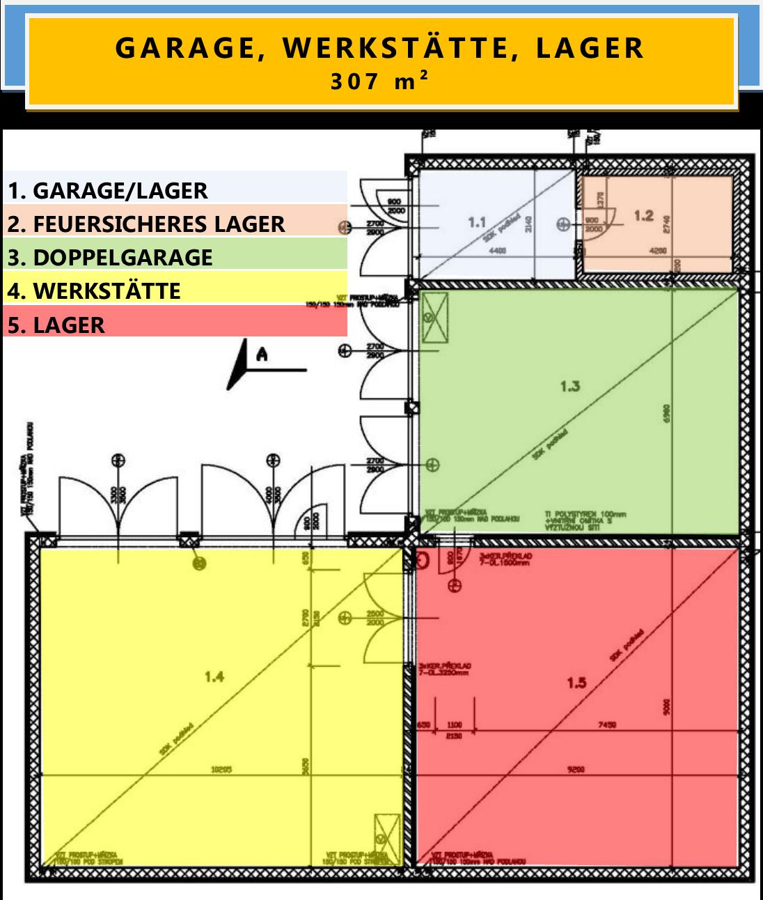 GARAGE, WERKSTÄTTE, LAGER 307 m²